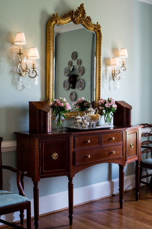 Residential interior design foxchase design llc for Traditional dining room sideboard